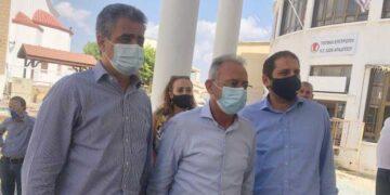 Επίσκεψη στο Δημοτικό Μέγαρο Αραδίππου ο Πρόεδρος ΔΗΣΥ